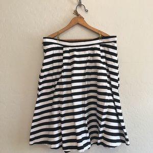 Striking Striped Aline Skirt